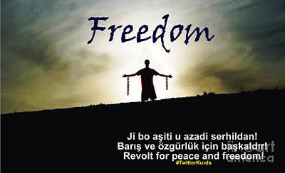 Kurdish Peace And Freedom Poster Art Print