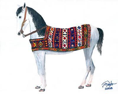 Kurdistan Pony Art Print