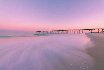 Photograph - Kure Beach Pier Sunset by Ranjay Mitra