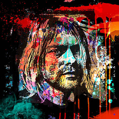 Painting - Kurt Cobain 3 by Gary Grayson