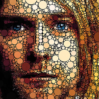 Digital Art - Kurt Cobain Circles by Yury Malkov