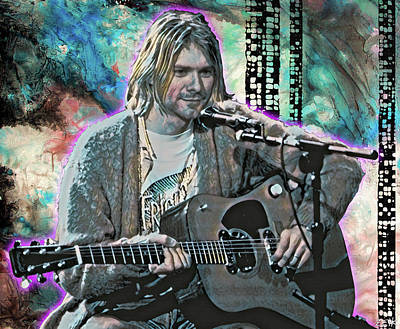 Pearl Jam Painting - Kurt Cobain - Come As You Are by Bobby Zeik