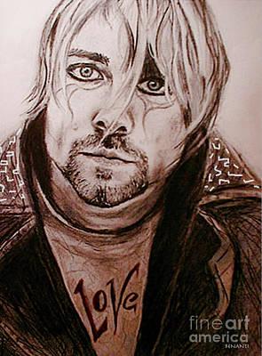 Seattle Drawing - Kurt Cobain by Dianne Lynn Benanti