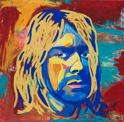 Painting - Kurt Cobain  by Janice Westfall