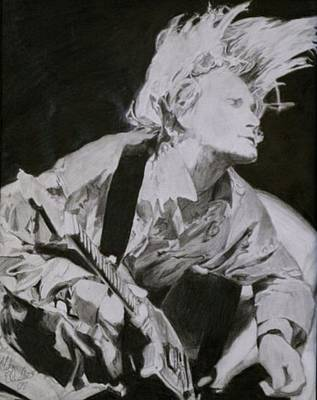 Drawing - Kurt Cobain by Mike Eliades