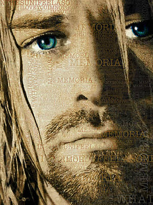 Kurt Cobain Nirvana And Lyrics Close Up Original by Tony Rubino