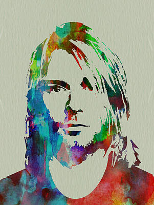 Rock Painting - Kurt Cobain Nirvana by Naxart Studio