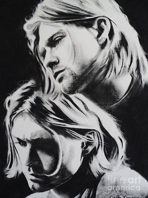 Drawing - Kurt Cobain Of Nirvana You Know Your Right by Carla Carson