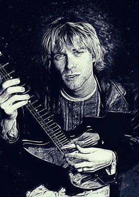 Kurt Cobain Digital Art - Kurt Cobain by Semih Yurdabak