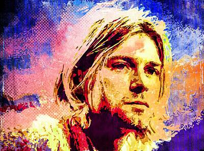 Mixed Media - Kurt Cobain by Svelby Art