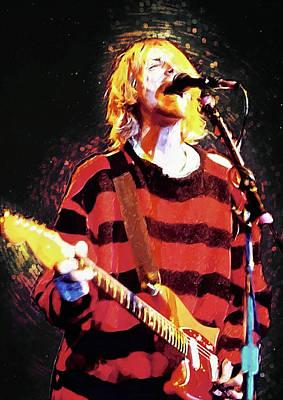 Pearl Jam Digital Art - Kurt Cobain by Taylan Apukovska