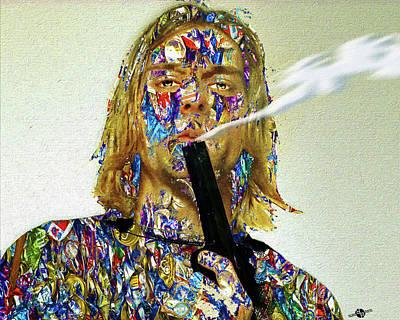 Mixed Media - Kurt Cobain by Tony Rubino