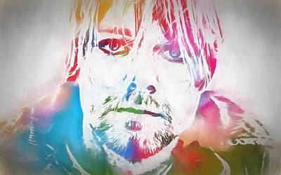 Dave Grohl Painting - Kurt Cobain Watercolor by Dan Sproul