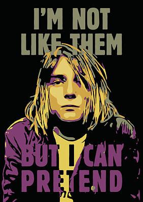 Kurt Cobain Digital Art - Kurt Cobain by Greatom London