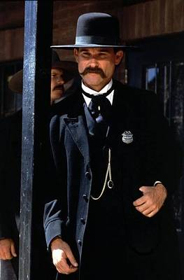 Kurt Russell As Wyatt Earp Tombstone Arizona 1993-2015 Art Print by David Lee Guss