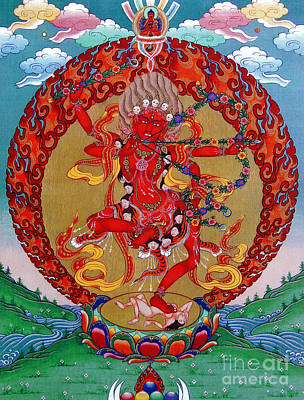 Thangka Painting - Kurukula by Sergey Noskov