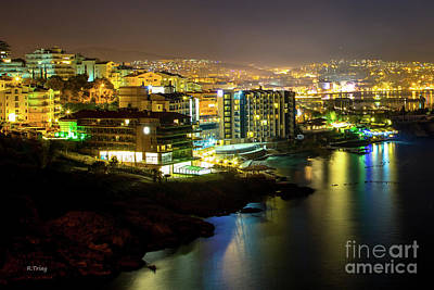 Photograph - Kusadasi Turkey City Night by Rene Triay Photography