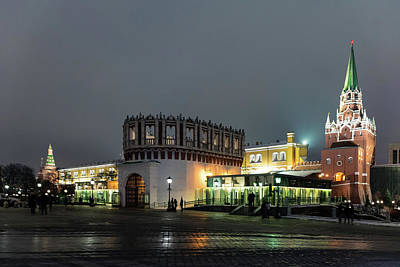 Photograph - Kutafya And Trinity Towers At Kremlin by Steven Richman