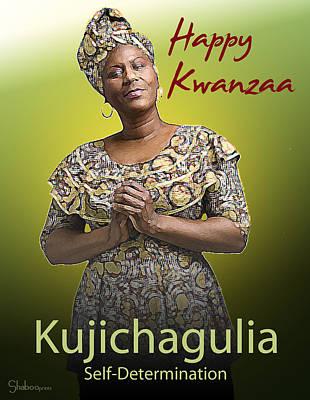Kwanzaa Kujichagulia Print by Shaboo Prints