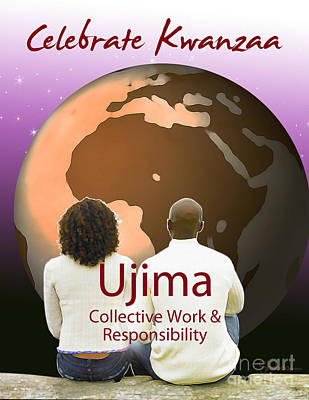 Kwanzaa Ujima Art Print by Shaboo Prints
