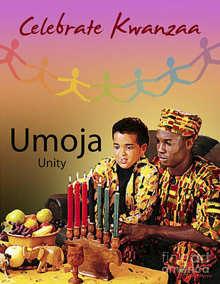 Digital Art - Kwanzaa Umoja by Shaboo Prints