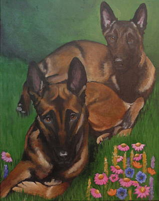 Painting - Kya And Jax by Carol Russell