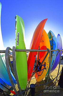 Photograph - Kayaks by Andy Thompson