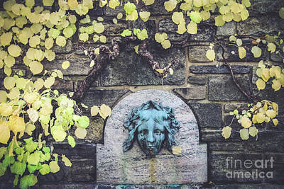 Photograph - Kykuit Wall Fountain by Colleen Kammerer