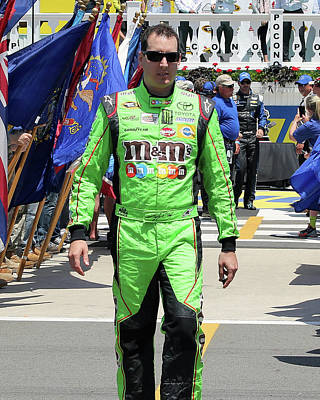 Kyle Busch Art Print by Mark A Brown