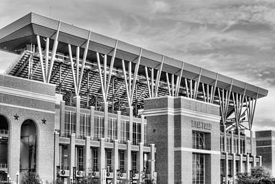 Photograph - Kyle Field Home Of The Aggies Black And White by JC Findley