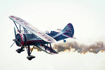 Photograph - Kyle Franklin Dracula Biplane  by Rene Triay Photography