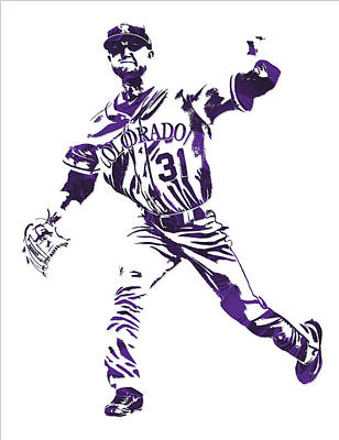 Mixed Media - Kyle Freeland Colorado Rockies Pixel Art 2 by Joe Hamilton