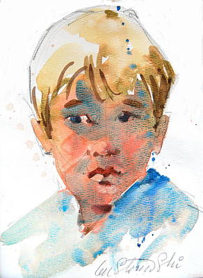 Painting - Kyle by Len Stomski