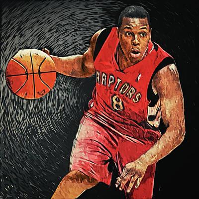 Canadian Sports Digital Art - Kyle Lowry by Taylan Apukovska