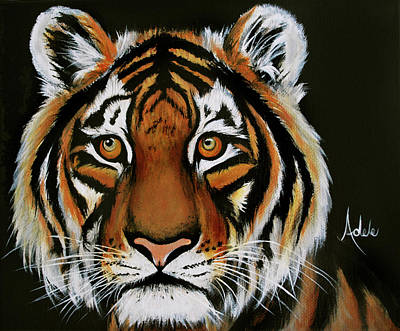 Painting - Kyle's Tiger by Adele Moscaritolo