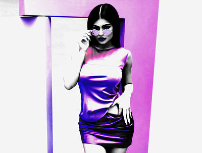 Mixed Media - Kylie Jenner Smooth As Silk by Brian Reaves