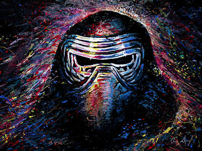 Sith Painting - Kylo Ren by Aaron Spong
