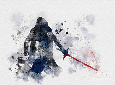 First Star Mixed Media - Kylo Ren by Rebecca Jenkins