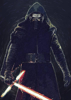 Han Digital Art - Kylo Ren by Semih Yurdabak