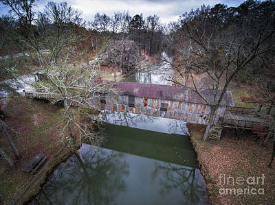 Photograph - Kymulga Covered Bridge Aerial 2 by Ken Johnson