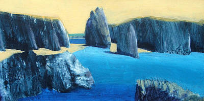 Abstract Beach Landscape Painting - Kynance by Paul Powis