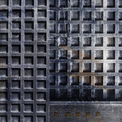 Rectangles Digital Art - Kyoto Doorways In Blue Series 2 by Carol Leigh