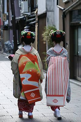 Kyoto Geishas Art Print by Jessica Rose