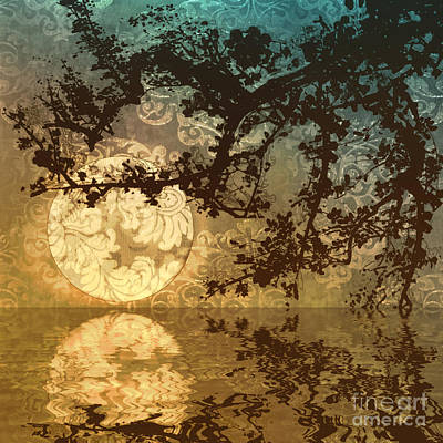 Reflection Of Trees Painting - Kyoto Sun by Mindy Sommers