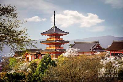 Photograph - Kyoto's Kiyomizudera Temple And Pagoda by Karen Jorstad