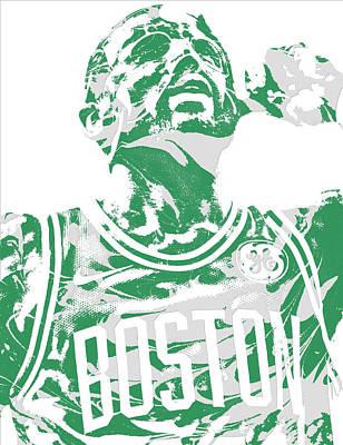 Mixed Media - Kyrie Irving Boston Celtics Pixel Art 41 by Joe Hamilton