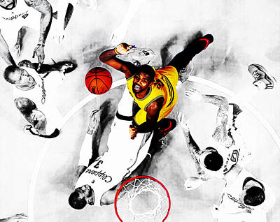 La Clippers Mixed Media - Kyrie Irving by Brian Reaves