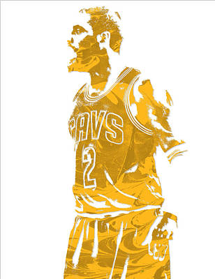 Mixed Media - Kyrie Irving Cleveland Cavaliers Pixel Art 10 by Joe Hamilton