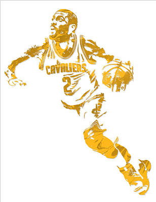 Mixed Media - Kyrie Irving Cleveland Cavaliers Pixel Art 11 by Joe Hamilton