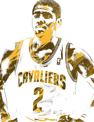 Cleveland Mixed Media - Kyrie Irving Cleveland Cavaliers Pixel Art 3 by Joe Hamilton